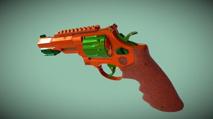 Popcap Gun | R8 Revolver 3D Model