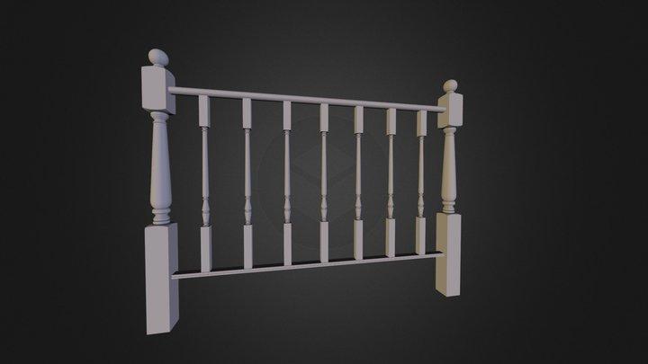 Barandilla Tradicional. Residencial Railing 3D Model