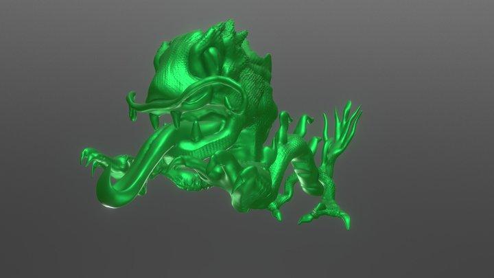 #SculptJanuary18 DAY 26 Dragon 3D Model