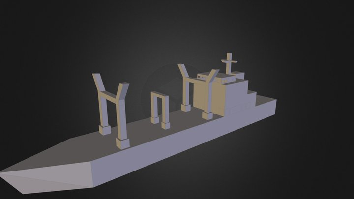 "Binnenschiff Typ ""Military"" 3D Model"