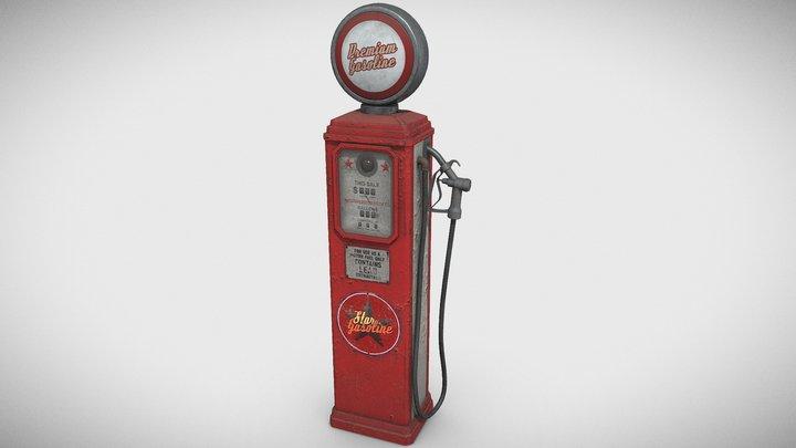 Gas Station Pump 3D Model