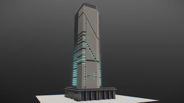 Scifi Building 1 3D Model