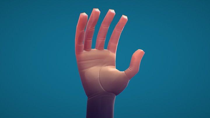 Posable Hand 3D Model