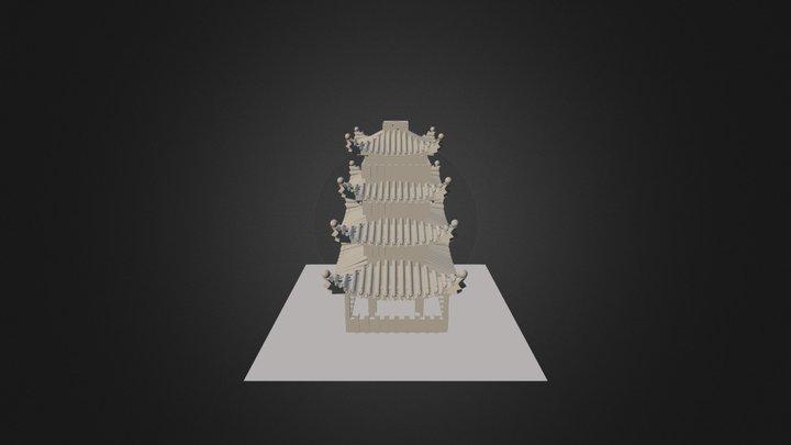 Pagoda Doodle 3D Model