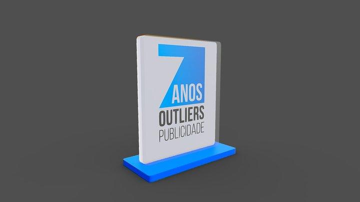 7 anos Outliers Publicidade 3D Model