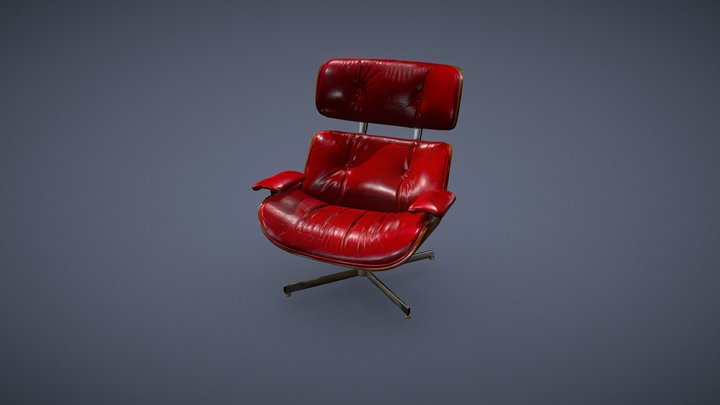 Plycraft Lounge Chair 3D Model
