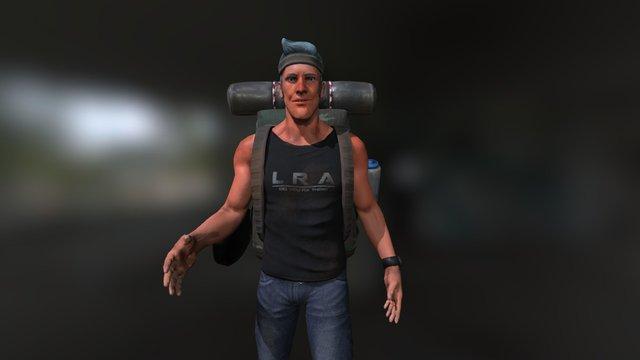 Happy Camper 3D Model
