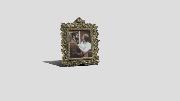 Antique Picture Frame 3D Model