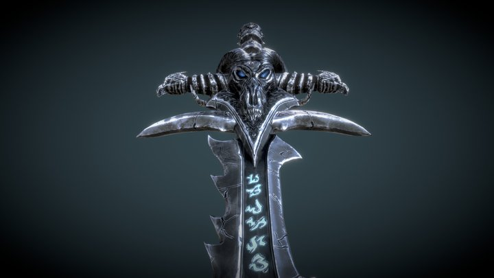 Frostmourne : Low-poly textured 3D Model