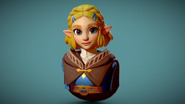 Zelda BoTW2 Speedsculpt Fanart 3D Model