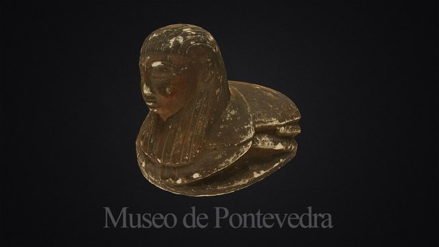 Egyptian scarab with human head 3D Model