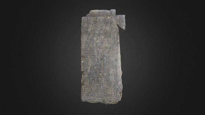 Baltinglass Abbey memorial stone 3D Model