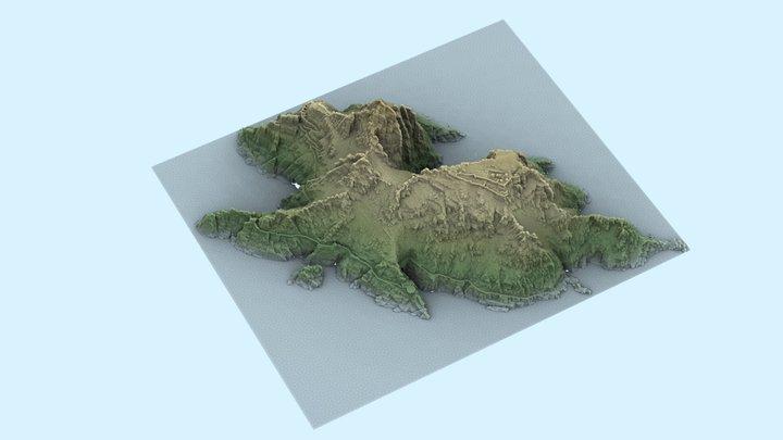 Sceilig Mhichíl - Sampled Point Cloud (2.5D) 3D Model