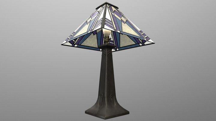 An Art Deco Lamp 3D Model