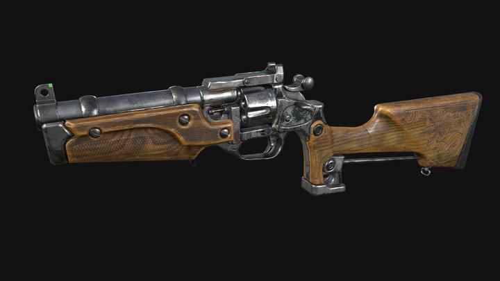 Revolver Metro Exodus (Fun art) 3D Model