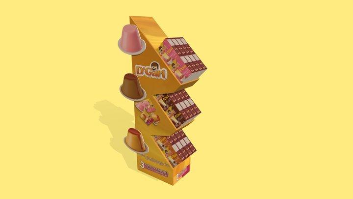 Mini Exhibidor Flan-B 3D Model