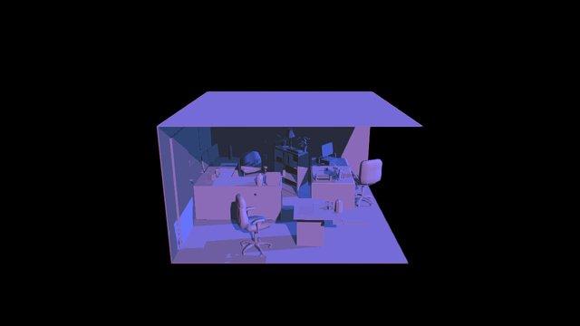 Triple Office 3D Model