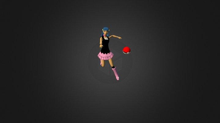 Dawn (pokemon) 3D Model