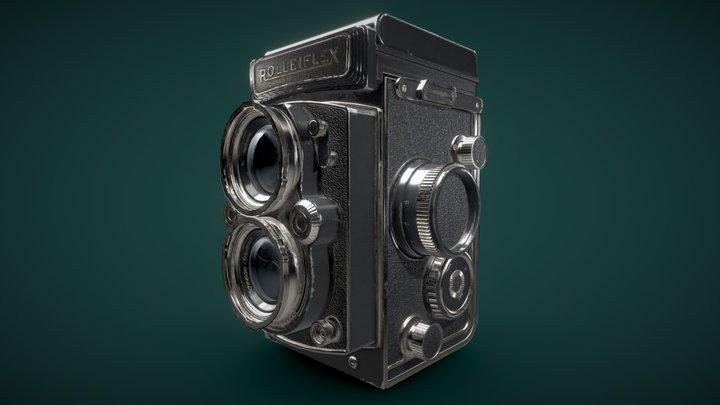 Rolleiflex Vintage Camera 3D Model