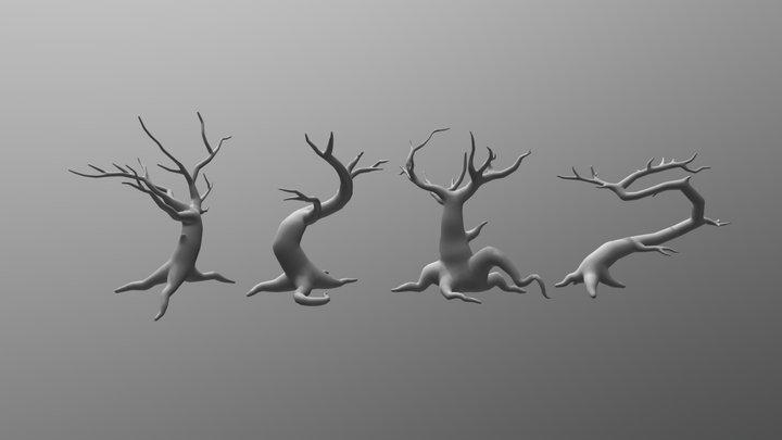 Spooky trees wip 3D Model