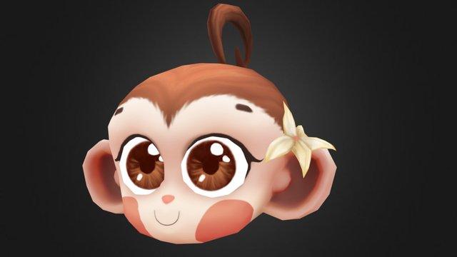 Monkey Girl - Art Test - 4 Hour Character Bust 3D Model