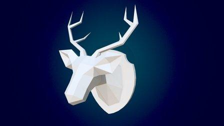 Papercut Deer 3D Model
