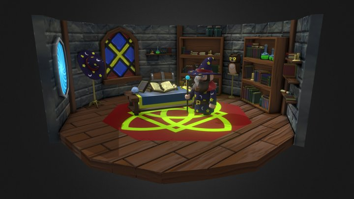 Lost Treasure - Wizard's Study 3D Model