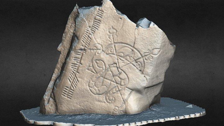 Brandsbutt Pictish Symbol Stone, Inverurie 3D Model