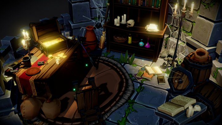 Fantastic Dungeon Pack - Preview Room 3D Model