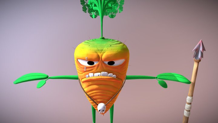 Carrot Character 3D Model
