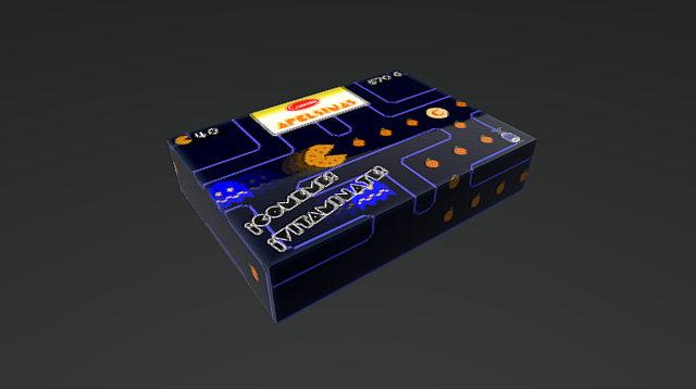 """Caja de galletas """"Apelsinas"""" - estilo retro 3D Model"""
