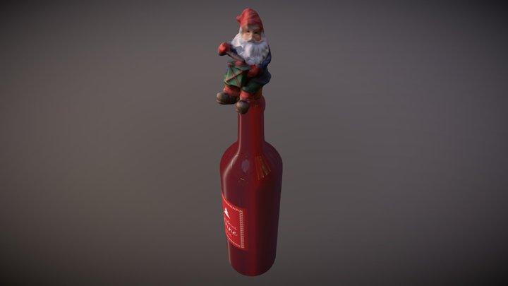 Christmas Wine Bottle 3D Model