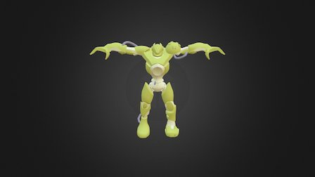 Robotic Character Low Poly 3D Model