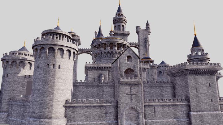 Fantasy Castle 3D Model