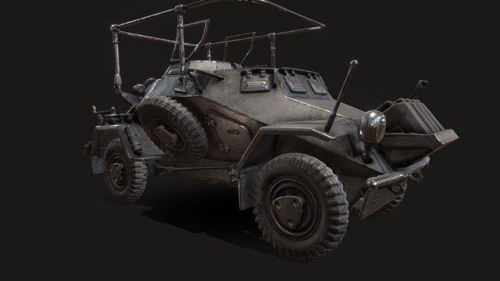 World War II Vehicle_02 (PBR texture) 3D Model