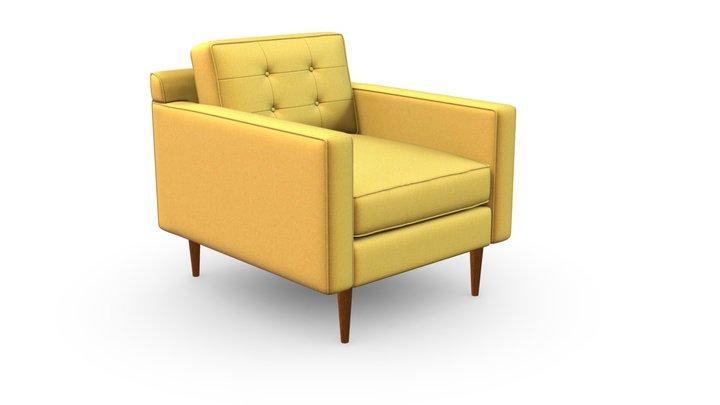 West Elm Drake Armchair by Ingreen 3D Model
