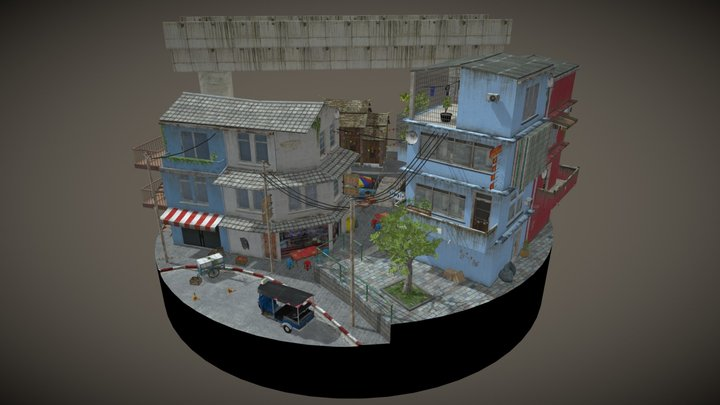 Cityscene - Bangkok inspired 3D Model