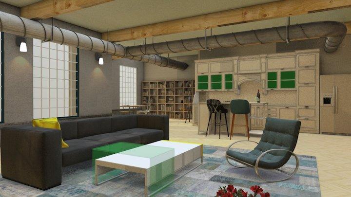Big Room 3D Model