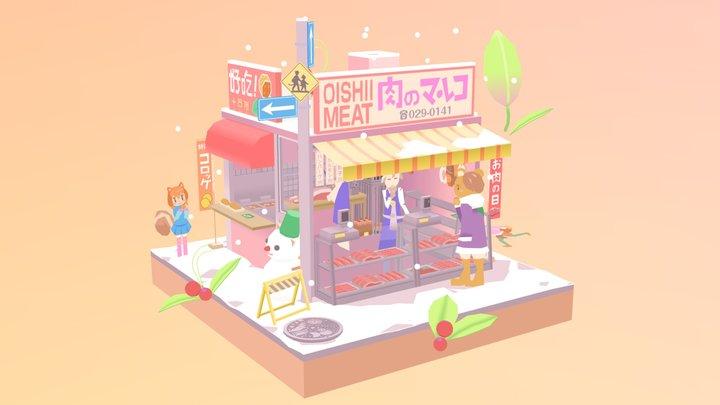 a meat shop 3D Model