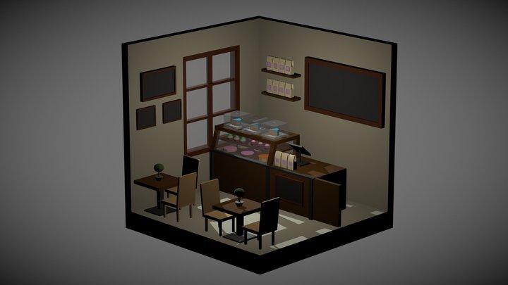 Isometric Room - Cake Shop 3D Model