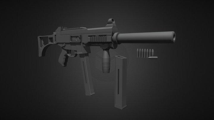 UMP-45. 3D Model