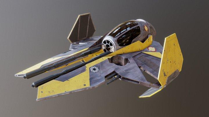 Jedi Star Fighter 3D Model