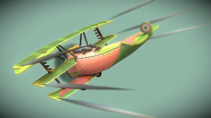 The Flying Circus: Sky Whale 3D Model