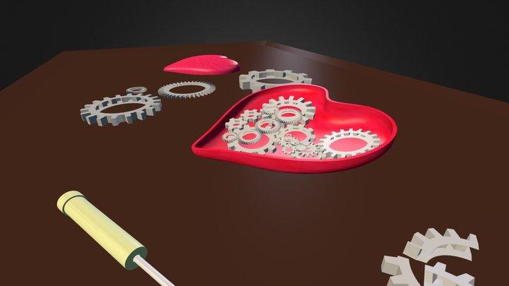 Trying To Fix A Broken Heart 3D Model