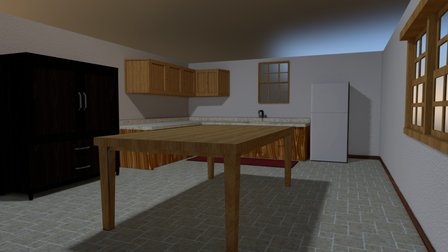 Practica Environment - Ellia's Kitchen 3D Model