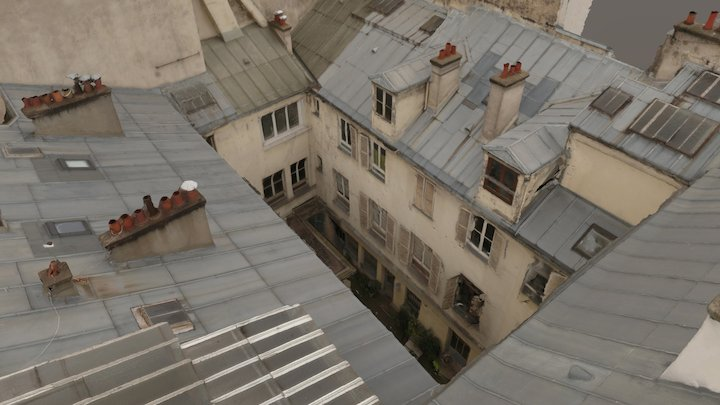 Courtyard in Paris 3D Model
