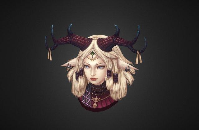 Demon Girl 3D Model