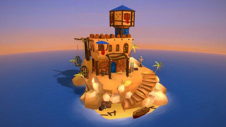 Arabian prison island 3D Model