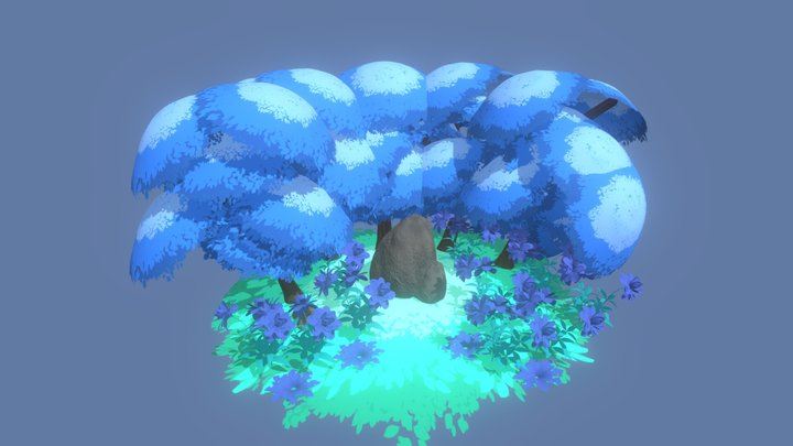 Blue Woods 3D Model
