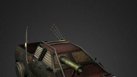 Mad Max based Car 3D Model